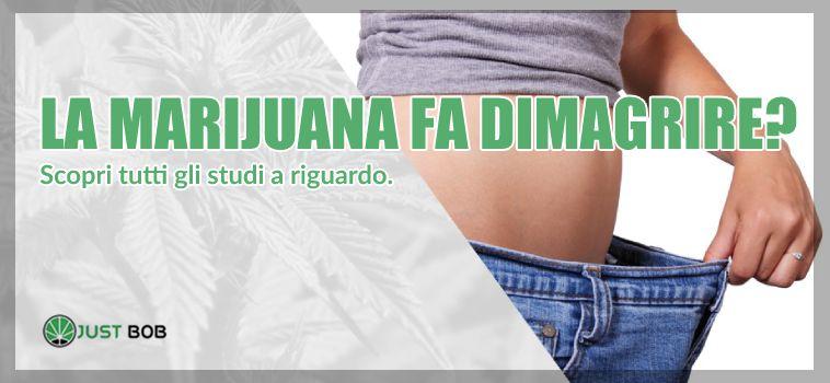 la marijuana fa dimagrire