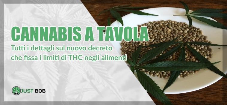 cannabis a tavola e thc negli alimenti