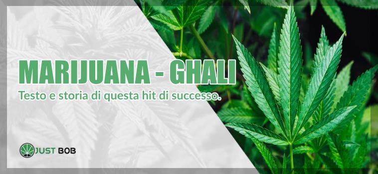 marijuana Ghali Testo