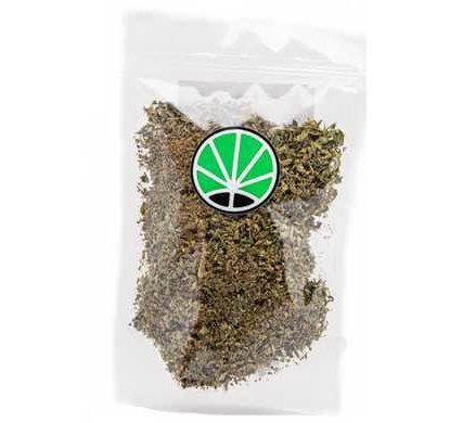 Packaging con setacciato di erba legale bubblegum