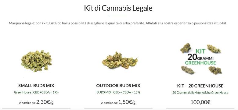 kit prova justbob marijuana light