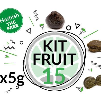 Kit fruit 3 varietà di hashish legale al CBD 15 grammi