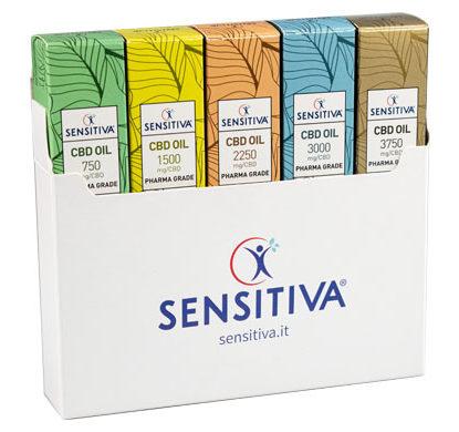 Kit di 5 confezioni di Olio al CBD Sensitiva