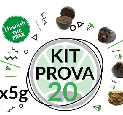 Kit di prova 4 varietà di hashish legale al CBD 5 grammi
