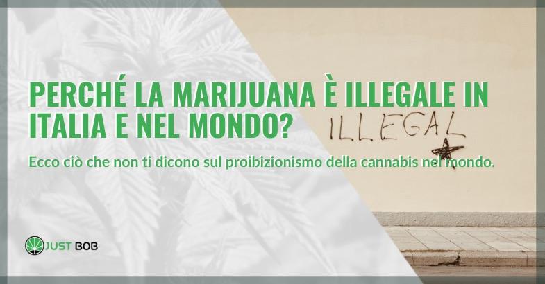 Perché la marijuana è illegale