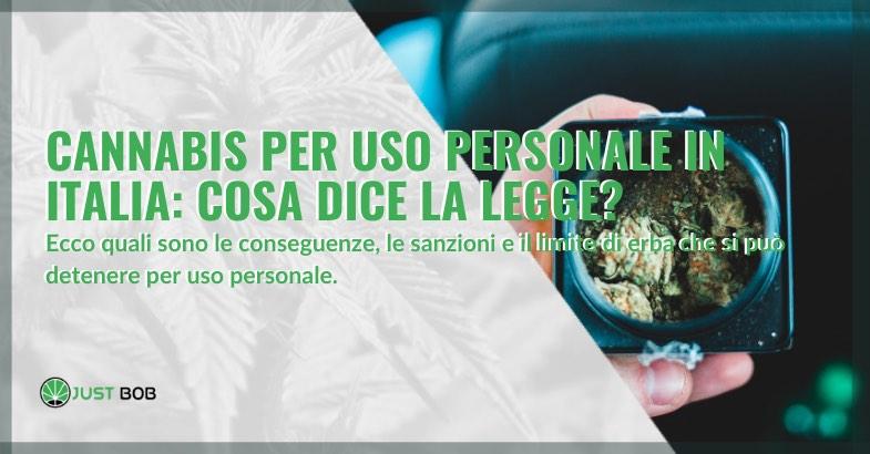 cannabis uso personale in italia