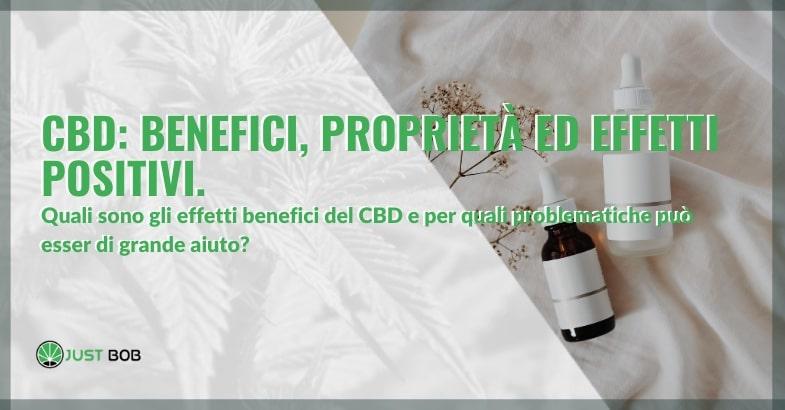cbd benefici ed effetti