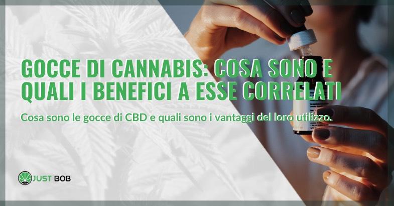gocce di cannabis light benefici e utilizzi