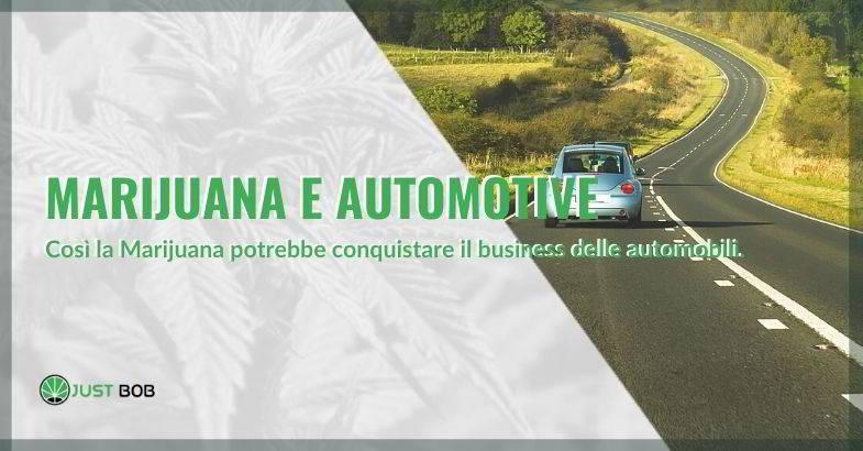 Futuro della marijuana nell'automotive