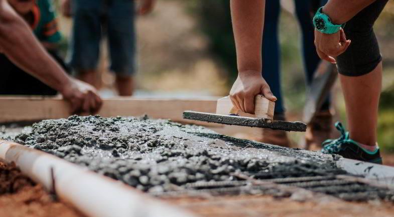 Canapa in edilizia: utilizzo del calcestruzzo.