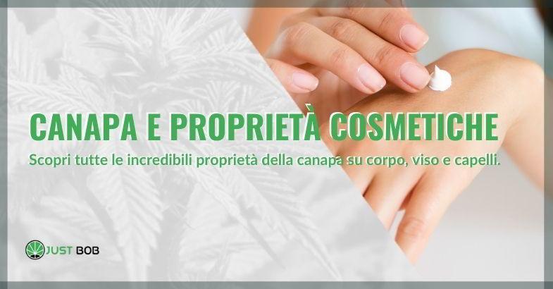 Canapa e proprietà cosmetiche.
