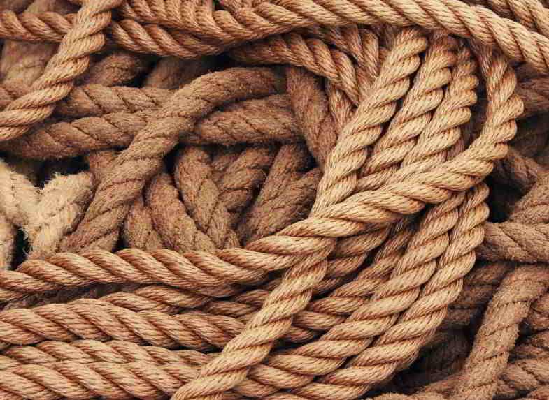 canapa nel settore tessile per realizzare corde