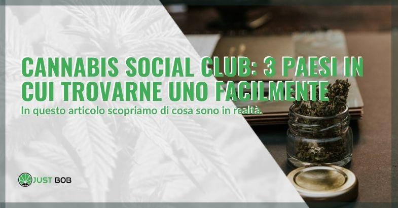 Che cosa sono i Cannabis social club e dove trovarne uno.