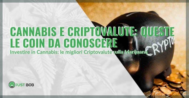 Le migliori criptovalute per investire in cannabis