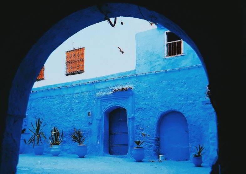 scorcio di una città del Marocco